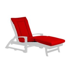 Chaise Lounge Cushion Pad - Canvas Jockey Red