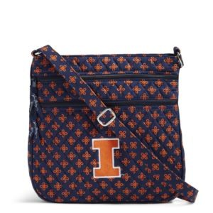 Vera Bradley Triple Zip Collegiate Hipster Bag(Illinois)