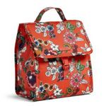 Custom Lunch Sack - Signature - Coral Floral