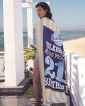 Custom Custom Striped Cabana Beach Towel (Deluxe Size)