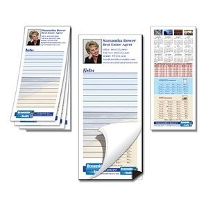 "25 Sheet Note Pad with Magnetic Backer(3.5""x8"")"