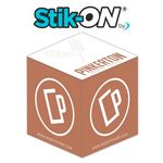 Custom Stik-ON 2-Color Full Cube Adhesive Note Cubes