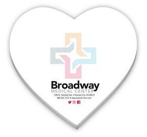 Custom Stik-ON Heart Shape 25 Sheet Adhesive Notes