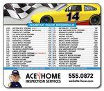 Custom 25 Mil NASCAR Sport Schedules Magnet w/ Round Corners (3.5