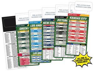 M.B.C. Pro-Football Sports Schedule Magnet (3.5x9)