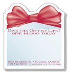 Custom 25 Sheet Die Cut Stik-ON Adhesive Note Pad (Gift Box w/Bow)