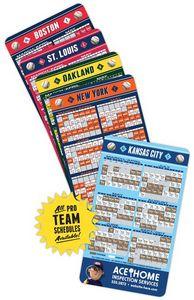 Custom 20 Mil Baseball Sport Schedules Magnet w/ Round Corners (3.5