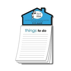 "Magna-Pad House Shape Magnet w/Stock ""Things To Do"" Notepad"