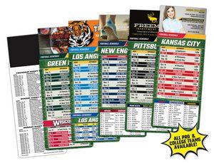 Custom Magna-Card Business Card Magnet Football Schedules (3.5