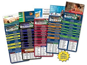 Magna-Card Business Card Magnet Football Schedules (3.5x9)