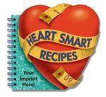 Custom Heart Smart Recipes Heart Shaped Cookbook