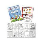 Custom General Use 12 Page Coloring Activity Book (8.5