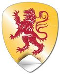 Custom Removable UV-Coated Badge/Crest/Shield Shape Sticker Decal (4