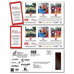 "UV Coated Postcard Perforated w/ Magnet Strip (3.5""x8.5"") 10 Point"