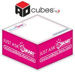 Custom Ad Cubes ½-Cube 2-Color Memo Note Notepads