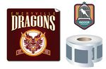 Custom Indoor-Permanent Square Shape Sticker/Decal Roll