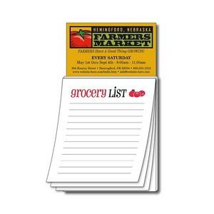 "Magna-Pad Business Card Magnet w/Stock ""Grocery List"" Notepad"