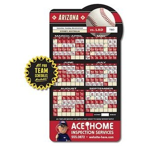 25 Mil Laminated Baseball Shape Sport Schedule