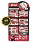 Custom 25 Mil Laminated Baseball Shape Sport Schedule