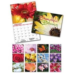 "Beautiful Blooms 13 Month Custom Appointment Wall Calendar (8.5""x11"")"