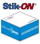 Custom Stik-ON Adhesive Note Cube w/ 1 Colors & 2 Sides (3.875
