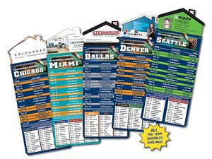 Magna-Card House Shaped Magnet Football Schedules (3.5x9)