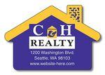 Custom 25 Mil House Shaped Real Estate Magnet (2.75