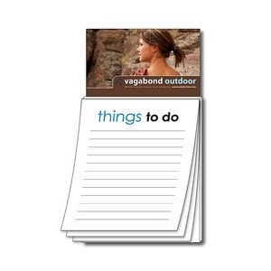 "Magna-Pad Business Card Magnet w/Stock ""Things To Do"" Notepad"