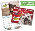 Custom Large Custom Photo 13 Month High Gloss UV Coated Appointment Wall Calendar
