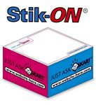 Custom Stik-ON Adhesive Note Cube w/ 3 Colors & 1 Side (2.75