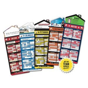 "Magna-Card House Shape Magnet Baseball Schedules (3.5""x9"")"