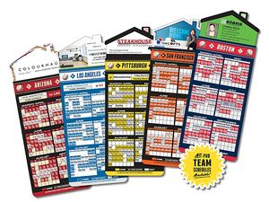 Magna-Card House Shape Magnet Baseball Schedules (3.5x9)