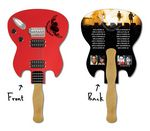 Custom 14 Pt. Laminated Guitar Shape Hand Fan