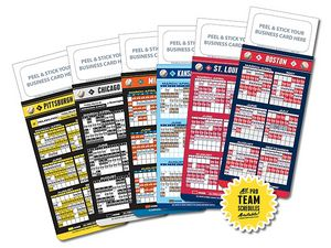Pro-Baseball Schedule w/ Magnetic Topper