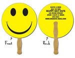Custom 14 Pt. Laminated Paper Circle Hand Fan