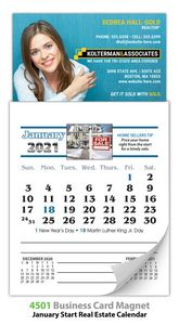 Magna-Cal Real Estate Business Card Magnet Calendar - Jan. 2017 Start