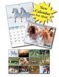 Custom 13 Month Mini Custom Appointment Wall Calendar- Horses