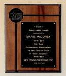 Custom Airflyte Collection American Walnut Plaque w/ 2 1/2