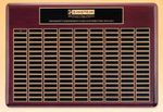 Custom Roster Series Rosewood Plaque w/ 60 Individual Black Brass Plates (15