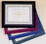 Custom Black Leatherette Frame Certificate Holder (10 3/4