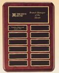 Custom 24 Name Plate Rosewood Stained Perpetual Plaque
