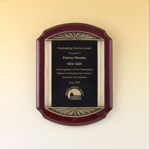 Airflyte Series Rosewood Plaque w/ Antique Bronze Frame Casting (11x15)