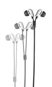 Tangle Free Stereo Earphones w/Microphone