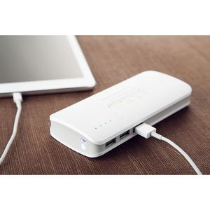 10,000 mAh Power Bank w/3 USB Ports