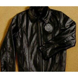 Tyca's Women's Embossed Leather Jacket