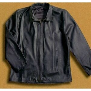Tyca's Embossed Lined Leather Jacket