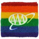 Custom Rainbow Wristband w/1-Color Heat Transfer or Printed Applique