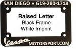 Custom Motorcycle License Plate Frame (Silk Screen)
