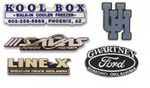 Custom Trunk Plates/Emblems (Up To 6