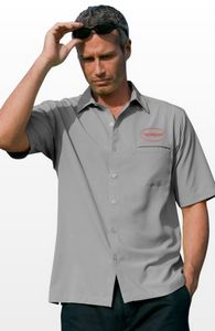 Vansport Woven Short Sleeve Camp Shirt